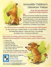 Accessible Childrens Literature flyer